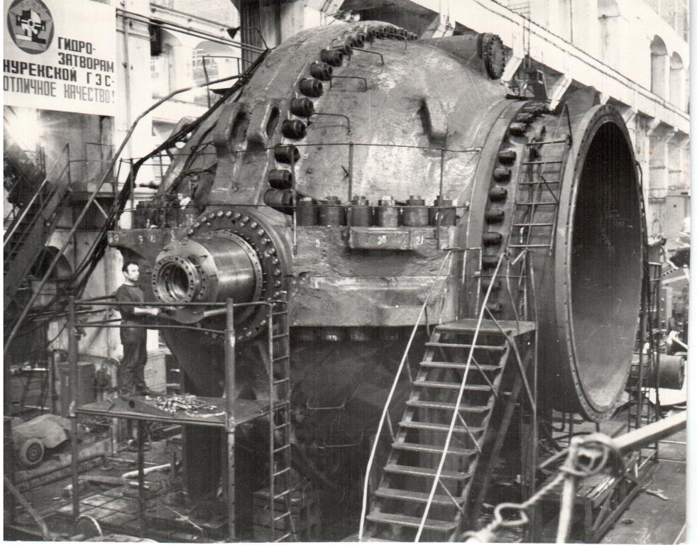 в условиях действующей ГЭС
